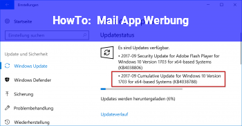 HowTo Mail App Werbung