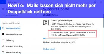 HowTo Mails lassen sich nicht mehr per Doppelklick öffnen