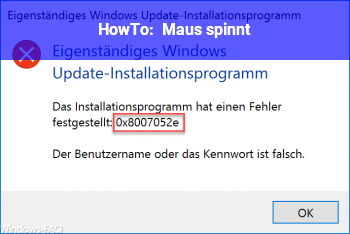 HowTo Maus spinnt