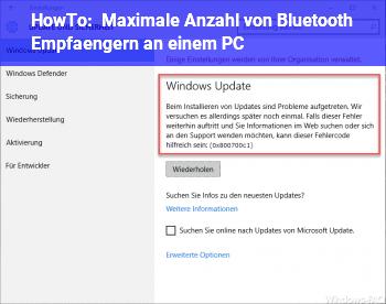 HowTo Maximale Anzahl von Bluetooth Empfängern an einem PC