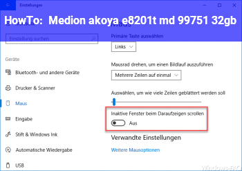 HowTo Medion akoya e8201t (md 99751) 32gb