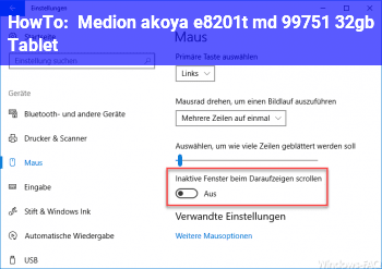 HowTo Medion akoya e8201t (md 99751) 32gb Tablet