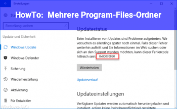 HowTo Mehrere Program-Files-Ordner