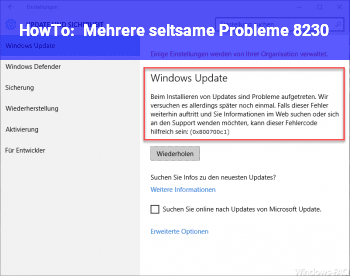 HowTo Mehrere seltsame Probleme …