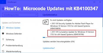 HowTo Microcode Updates mit KB4100347