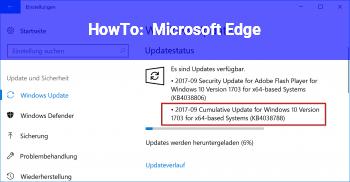 HowTo Microsoft Edge