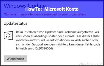 HowTo Microsoft Konto