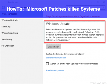 HowTo Microsoft Patches killen Systeme