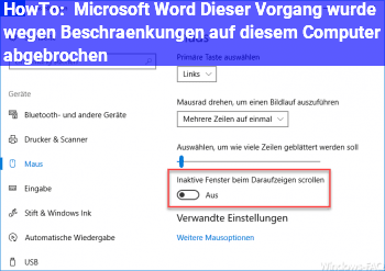 HowTo Microsoft Word: Dieser Vorgang wurde wegen Beschränkungen auf diesem Computer abgebrochen