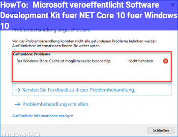 HowTo Microsoft veröffentlicht Software Development Kit für .NET Core 1.0 für Windows 10