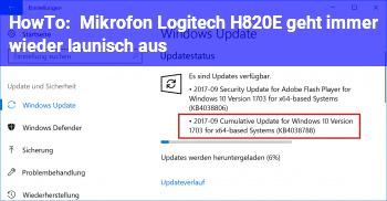 HowTo Mikrofon Logitech H820E geht immer wieder launisch aus