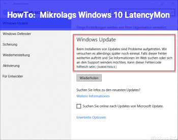 HowTo Mikrolags Windows 10 / LatencyMon