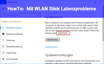 HowTo Mit WLAN Stick Latenzprobleme