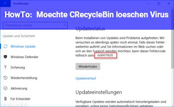 HowTo Möchte C:\$Recycle.Bin löschen / Virus?