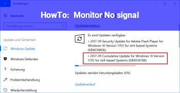 HowTo Monitor No signal