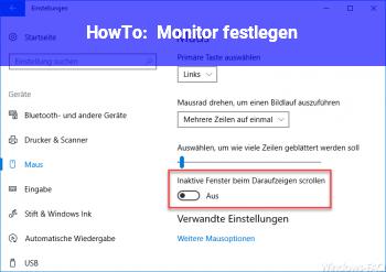 HowTo Monitor festlegen