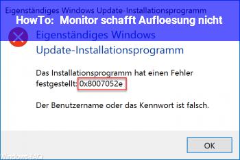 HowTo Monitor schafft Auflösung nicht?