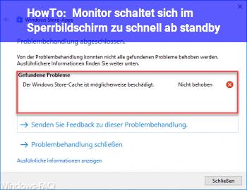 HowTo Monitor schaltet sich im Sperrbildschirm zu schnell ab (standby)
