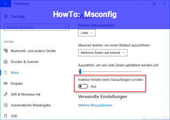 HowTo Msconfig