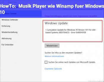HowTo Musik Player wie Winamp für Windows 10
