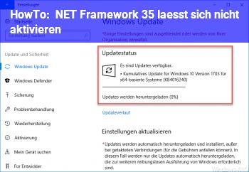 HowTo NET Framework 3.5 lässt sich nicht aktivieren