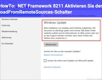 """HowTo .NET Framework – """"Aktivieren Sie den loadFromRemoteSources-Schalter"""" ?"""