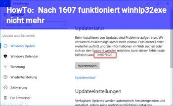 HowTo Nach 1607 funktioniert winhlp32.exe nicht mehr