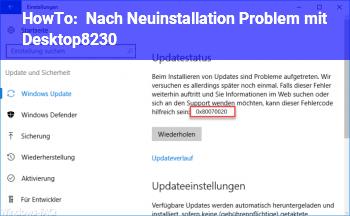 HowTo Nach Neuinstallation Problem mit Desktop…