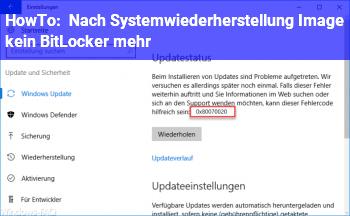 HowTo Nach Systemwiederherstellung (Image) kein BitLocker mehr