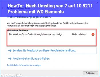 HowTo Nach Umstieg von 7 auf 10 – Probleme mit WD Elements