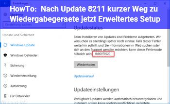 """HowTo Nach Update – kurzer Weg zu """"Wiedergabegeräte"""" (jetzt """"Erweitertes Setup"""")?"""