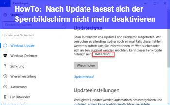 HowTo Nach Update lässt sich der Sperrbildschirm nicht mehr deaktivieren