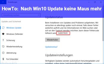 HowTo Nach Win10 Update keine Maus mehr!