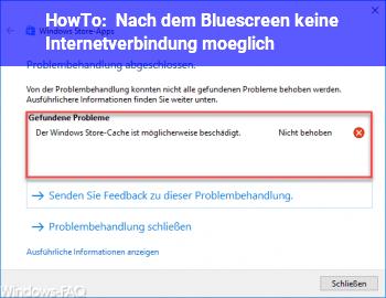 HowTo Nach dem Bluescreen keine Internetverbindung möglich !