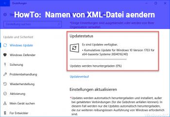 HowTo Namen von XML-Datei ändern