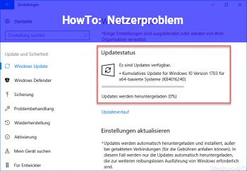 HowTo Netzerproblem