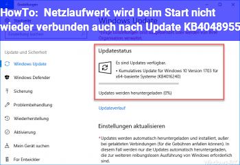 HowTo Netzlaufwerk wird beim Start nicht wieder verbunden, auch nach Update KB4048955