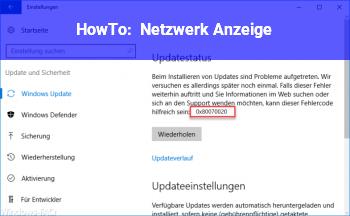 HowTo Netzwerk Anzeige