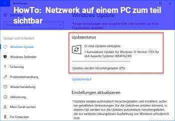 HowTo Netzwerk auf einem PC zum teil sichtbar