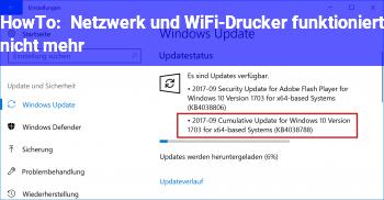 HowTo Netzwerk und WiFi-Drucker funktioniert nicht mehr