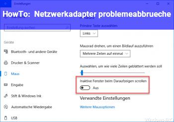 HowTo Netzwerkadapter probleme/abbrüche