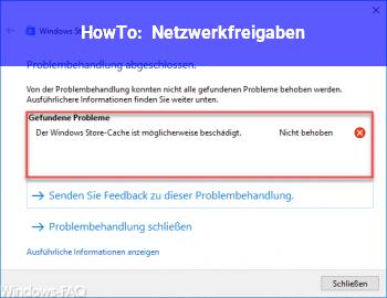 HowTo Netzwerkfreigaben