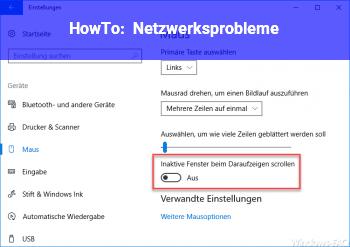 HowTo Netzwerksprobleme