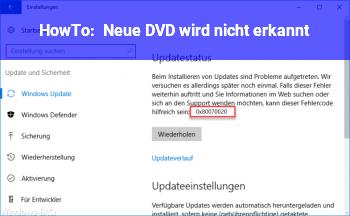 HowTo Neue DVD wird nicht erkannt