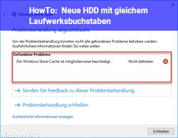 HowTo Neue HDD mit gleichem Laufwerksbuchstaben?