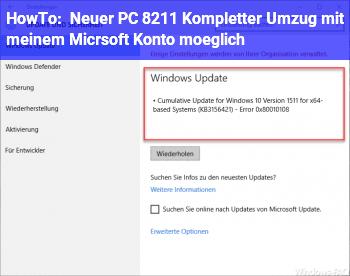 HowTo Neuer PC – Kompletter Umzug mit meinem Micrsoft Konto möglich?