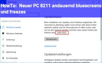 HowTo Neuer PC – andauernd bluescreens und freezes