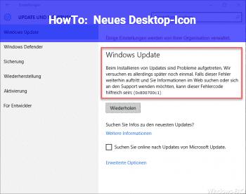 HowTo Neues Desktop-Icon