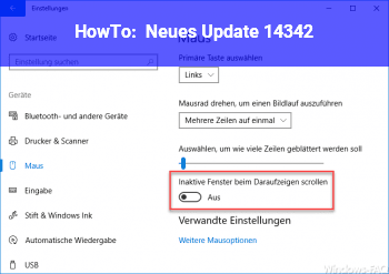 HowTo Neues Update 14342