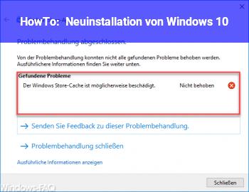 HowTo Neuinstallation von Windows 10